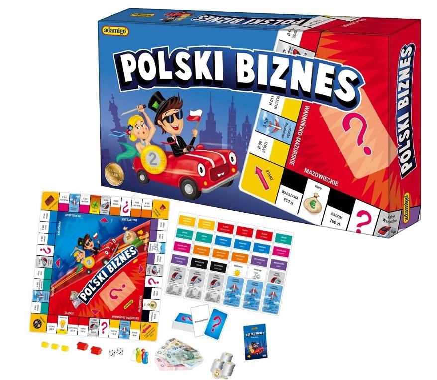 Polski Biznes GRA PLANSZOWA EUROBIZNES MONOPOL ADAMIGO