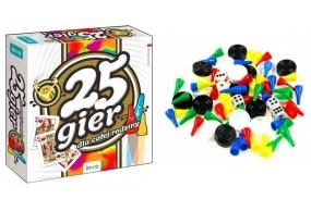 Gra Planszowa Rodzinna Zestaw 25 gier dla całej rodziny JAWA