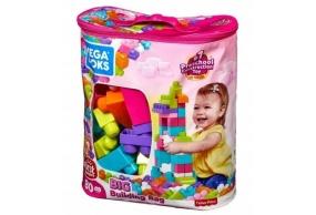 Mega Bloks First Builders torba 80 el. Różowa